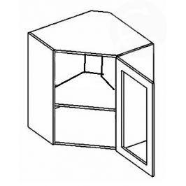 WR60W h. vitrína rohová NORA de LUX hruška čiré sklo