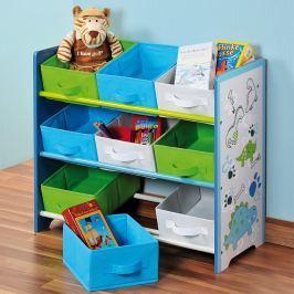 Regál dětský s úložnými boxy E195