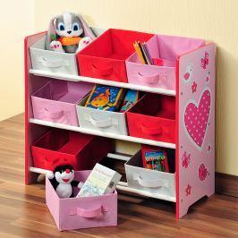 Regál dětský s úložnými boxy E196