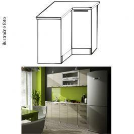 Kuchyňská skříňka rohová, levá, dub sonoma, IRYS DN-80