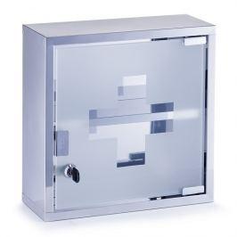 Skříňka na léky nerezerová na zeď E296