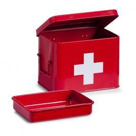 Skříňka na léky kovová červená E297