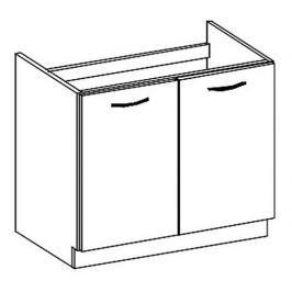 D80ZL dolní skříňka pod dřez LIMED