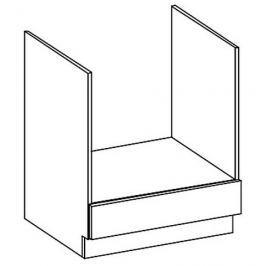 DK60 skříňka na vestavnou troubu v šedém lesku KN414