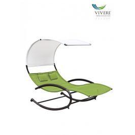 Zahradní houpací postel Vivere Double Chaise Rocker, zelená