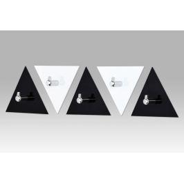 Set 5 nástěnných věšáků černý a bílý GC3511-5