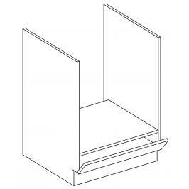 Dolní skříňka na vestavnou troubu 60 cm dub picard a bílý lesk DK60 KN411