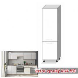 Potravinová skříň ENILE bílý vysoký lesk 60 cm