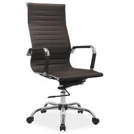 Čalouněné kancelářské křeslo v hnědé barvě typ Q040 KN102
