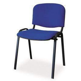 Čalouněná konferenční židle, modrá KN046
