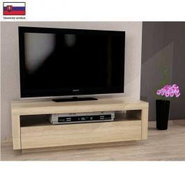 TV stůl s vyklápěcí zásuvkou v jednoduchém moderním designu dub sonoma AGNES
