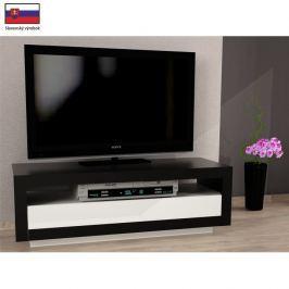 TV stolek s vyklápěcí zásuvkou v jednoduchém moderním designu černá AGNES