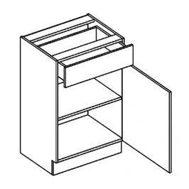 D50/S1 dolní skříňka se zásuvkou grafit bis KN2000
