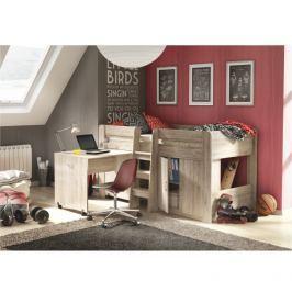 Víceúčelová postel do dětského pokoje dub san remo TK3001