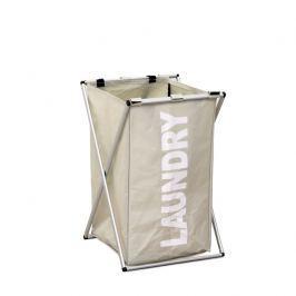 Látkový koš na prádlo světlý LAUNDRY TYP 1 TK2012