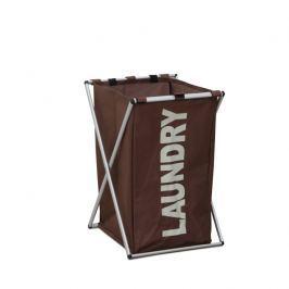 Látkový koš na prádlo tmavě hnědý LAUNDRY TYP 1 TK2012