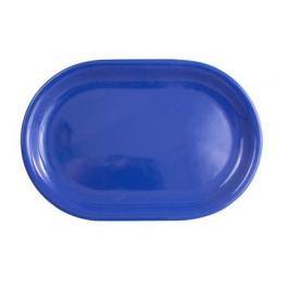 Talíř keramický oválný 35 cm, modrý