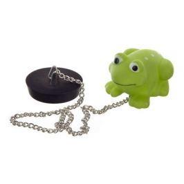 BRILANZ Špunt vanový s plovoucím zvířátkem na řetízku - žába
