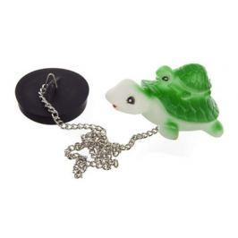 BRILANZ Špunt vanový s plovoucím zvířátkem na řetízku - želva