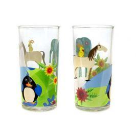 BANQUET Sada dětských sklenic ZVÍŘÁTKA ZEMĚ 220 ml, 2 ks