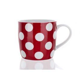 BANQUET Hrnek keramický červený s puntíky 310 ml