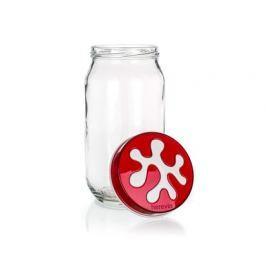 BANQUET Dóza skleněná PUZZLE 1000 ml, červená