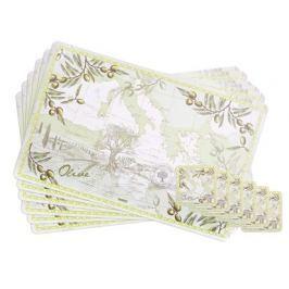 BANQUET Sada plastového prostírání OLIVES, 12 ks