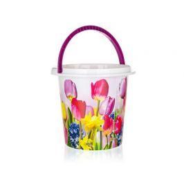 Kbelík plastový 10 l, 29 x 27,5 cm, tulipány