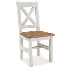 Dřevěná jídelní židle v moderním dekoru borovice KN063