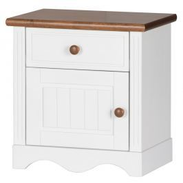 Noční stolek v bílé barvě typ 13A KN091