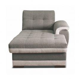 Lenoška s područkou na pravé straně v jednoduchém moderním provedení šedé a krémové TK083
