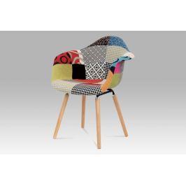 Jídelní židle patchwork / natural CT-723 PW2