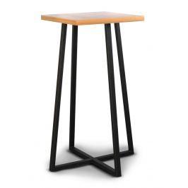 Dřevěný barový stolek v dekoru dub typ L8 KN092