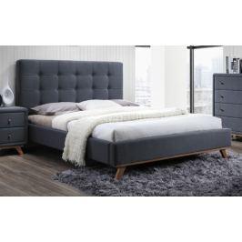 Čalouněná manželská postel 160 x 200 cm s roštem KN221