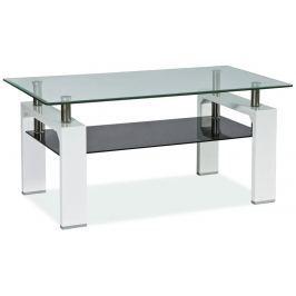 Stylový konferenční stolek v barvě bílý lak typ II KN124