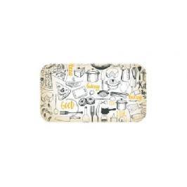Tác melaminový sendvičový RETRO KITCHEN 29,5 x 16,5 cm