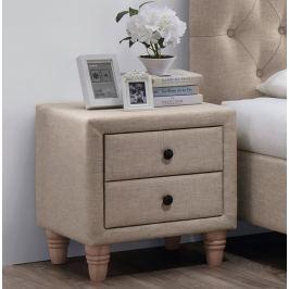 Noční stolek potažen látkou v béžové barvě KN136