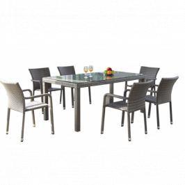 Jídelní stůl 150x90 cm v šedém provedení BARCELONA DF-003205