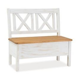 Dřevěná lavice v moderním dekoru borovice KN063