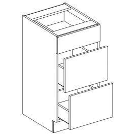 Dolní skříňka 40 cm se zásuvkami dub sonoma typ D40S3 KN393