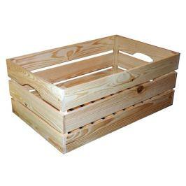 Dřevěná bedýnka přírodní