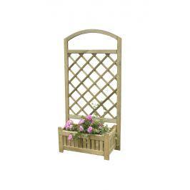Dřevěný květináč AOSTA s mříží