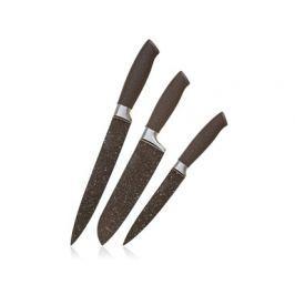 Sada nožů s nepřilnavým povrchem PREMIUM Dark Brown, 3 ks