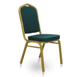 Konferenční židle stohovatelná v zelené látce TK2021
