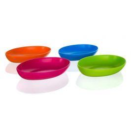Talíř plastový oválný ACCASA 24 x 15 x 3,5 cm, mix barev