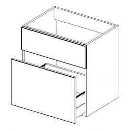 Dolní skříňka pod umyvadlo se zásuvkou 60 cm s možností výběru barvy DUM D60S1 KN485
