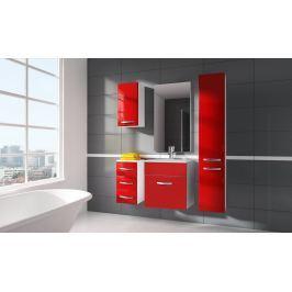 Koupelnová sestava červený lesk s umyvadlem a deskou typ II KN485