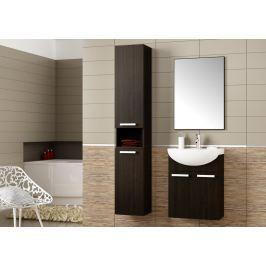Stylová koupelnová sestava v moderním dekoru wenge s umyvadlem KN490
