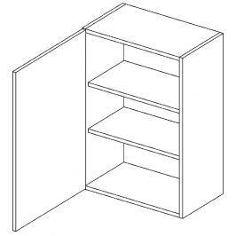 Horní skříňka 45 cm s levým otevíráním v elegantní šedé matné barvě typ W45 KN394