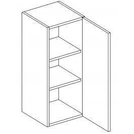 Horní skříňka 30 cm s pravým otevíráním v elegantní šedé matné barvě typ W30 KN394